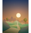 Night Countryside Cartoon Landscape vector image vector image