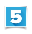 Number five label or number icon vector image vector image