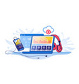 online radio music streaming service concept with vector image
