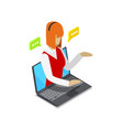 online shopping isometric 3d icon vector image vector image