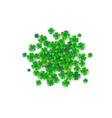 patricks day background in round circle shape vector image vector image