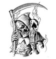 reaper hand drawn vector image
