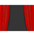 red theater curtains vector image vector image