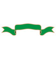 ribbon green sign 1710 vector image vector image
