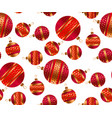 scattered xmas baubles seamless pattern vector image vector image