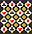seamless casino gambling poker background vector image vector image