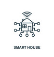 Smart house outline icon creative design from