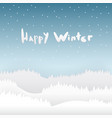 snow and happy winter season background with vector image vector image