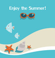summer background with seabeachsunglasses vector image vector image