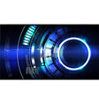 technological futuristic modern interface vector image vector image