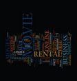 the new era in movie rentals text background word vector image vector image