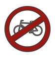 traffic signal bicycles forbidden vector image vector image