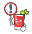with sign bloody mary character cartoon vector image