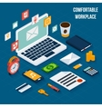 Workplace elements isometric vector image vector image