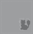 Cats silhouette vector image