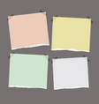 torn note paper with space for your text vector image