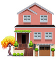 A big residential house vector image vector image