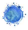 abstract blue color round brush watercolor vector image vector image