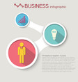 abstract business flat infographic template vector image