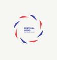 abstract circular dynamic logo vector image vector image