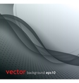 Abstract gray wave background vector image vector image