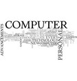 advancements in computer technology text word vector image vector image