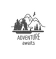 Adventure awaits vector image vector image