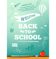 Back to school poster education background vector image