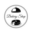 bakery shop logo with cakes vector image vector image