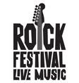 banner for live music festival with guitar vector image