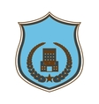 blue police badge icon image vector image vector image