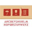 cargo cardboard box icon sign set vector image vector image