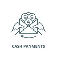 cash payments line icon linear concept vector image vector image