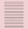 collection of ornamental rule lines in different vector image vector image