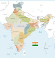 colorful map india vector image vector image
