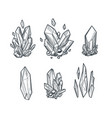 crystals draing vector image vector image