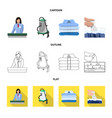 design of laundry and clean symbol vector image vector image