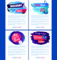 discount new offer big sale winter banner tags set vector image vector image