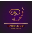 diving logo vector image vector image