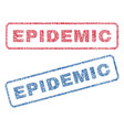 epidemic textile stamps vector image vector image