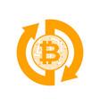 exchange bitcoin crypto currency stock exchange vector image vector image