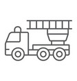 fire engine thin line icon emergency and fire vector image
