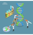 Genetic engineering isometric flat concept vector image vector image