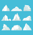 geometric icebergs set floating blocks ice in vector image vector image