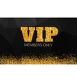 Gold VIP background Vip club Members only VIP vector image vector image