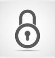 gray lock icon vector image