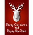 Greeting card with deer vector image vector image