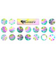 holographic glitter texture collection round vector image vector image