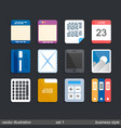 icon set business vector image