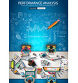 infograph brochure template with hand drawn vector image vector image